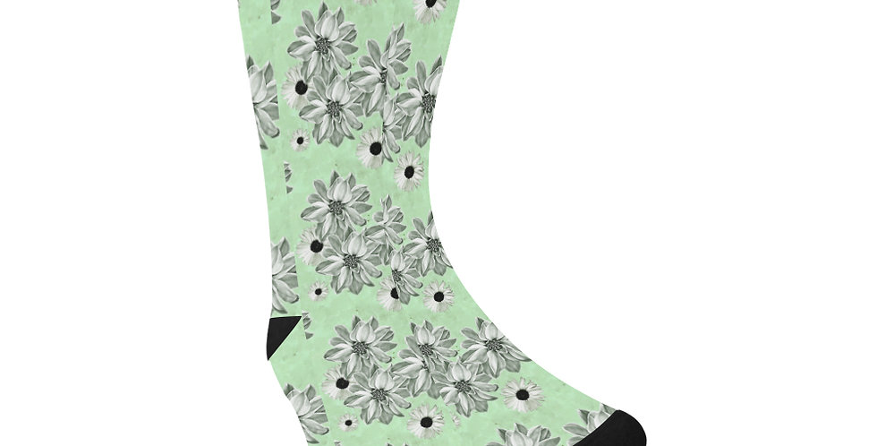 Floral Green - Unisex Socks (Made in Australia)