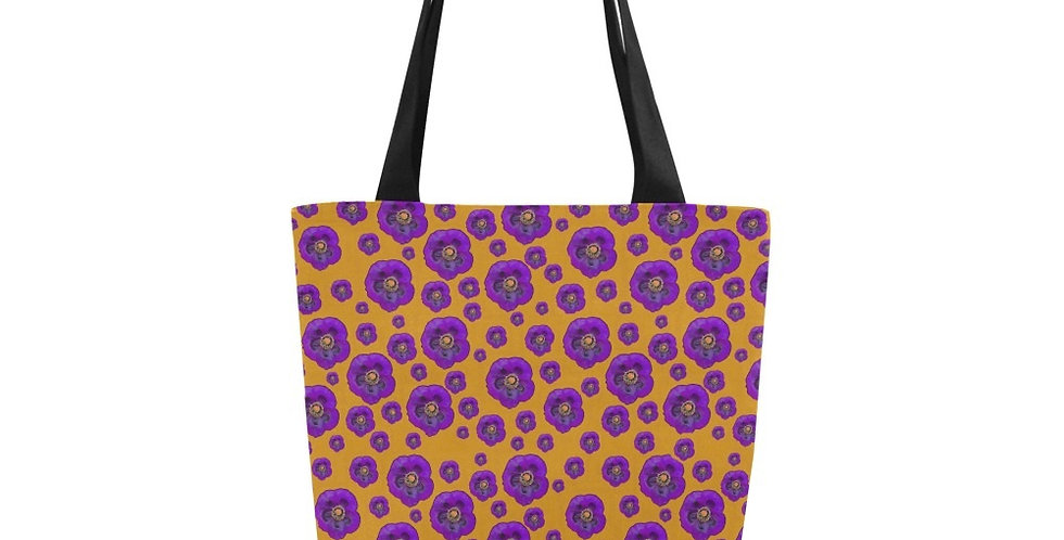 Poppies Purple/Orange - Tote Bag