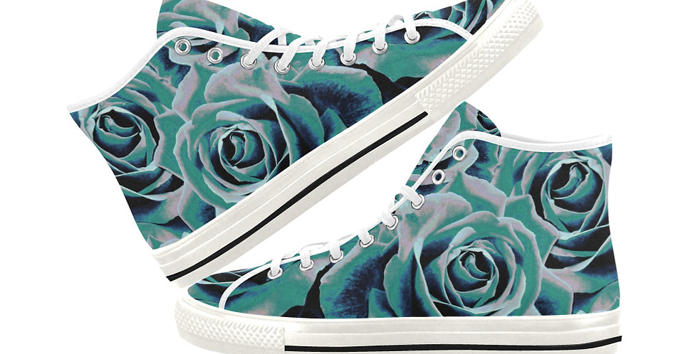 Gypsy Rose Stormy Skies - Women's High Top Canvas Sneakers