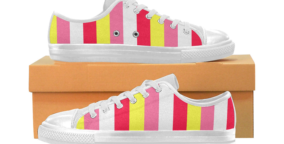 Summer Stripes - Women's Canvas Sneakers