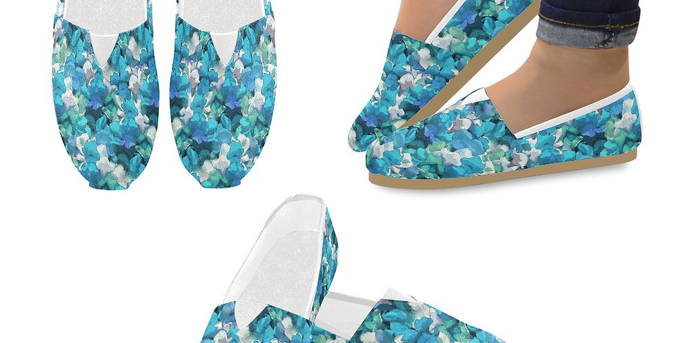 Snappy Blue - Slip On Canvas Shoes