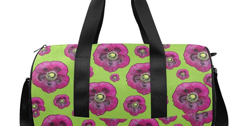 Purple Poppies - Gym / Workout / Camping / Travel Duffel Bag
