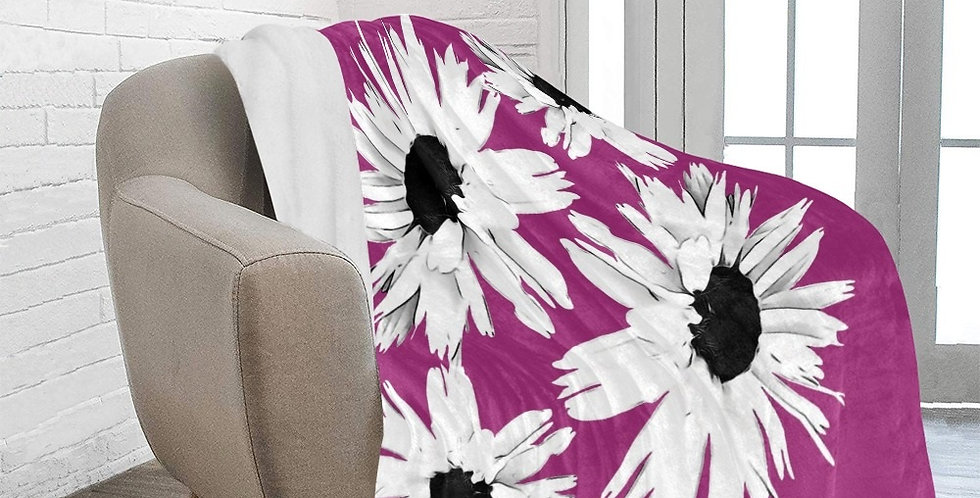 Bunch of Daisies - Bright Pink - Blanket