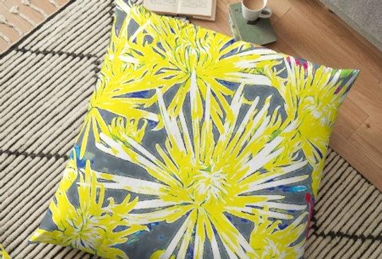 Yellow Chrysanthemums - Cushion Cover