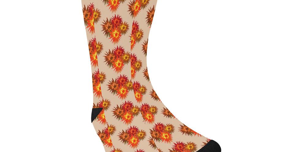 Autumn Flowers - Unisex Socks (Made in Australia)