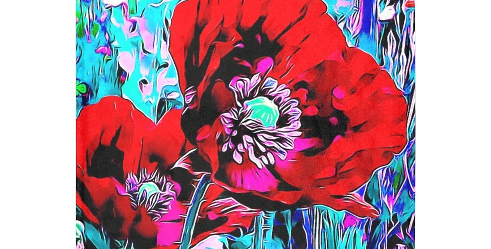 Meadow Poppies Red - Blanket