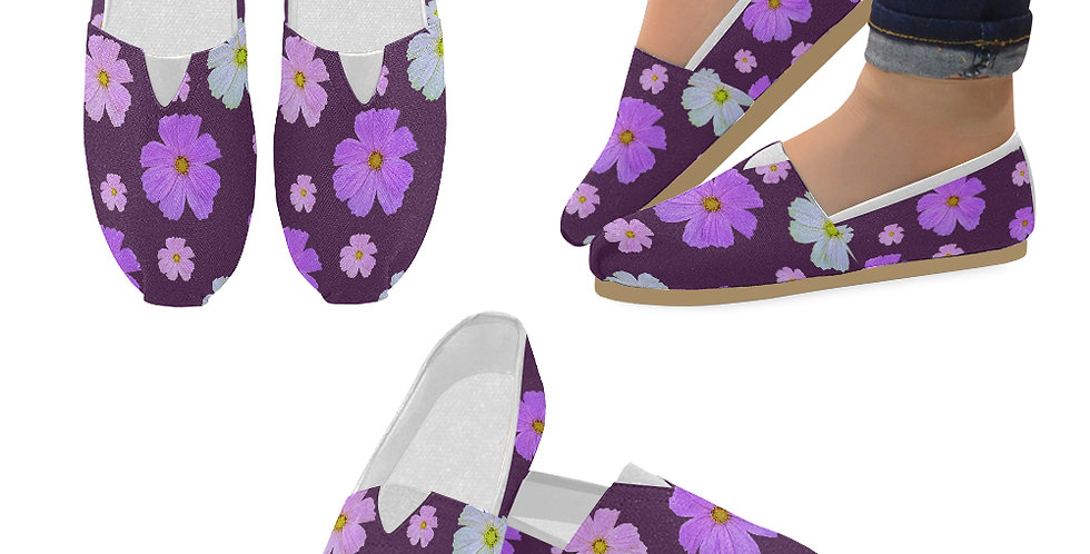 Cosmos and Wine - Slip On Canvas Shoes