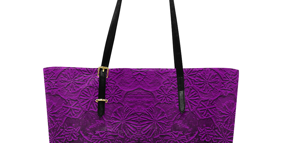 Embossed Poppies Hot Pink - Large Tote Bag