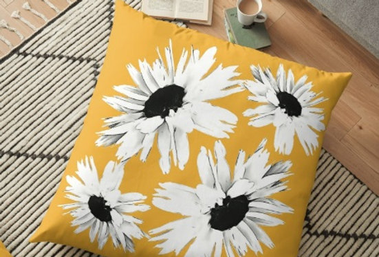 Bunch of Daisies Yellow - Cushion Cover