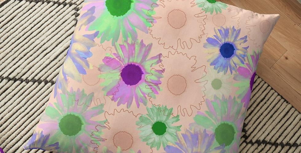 Wildflower Floral - Peach - Cushion Cover