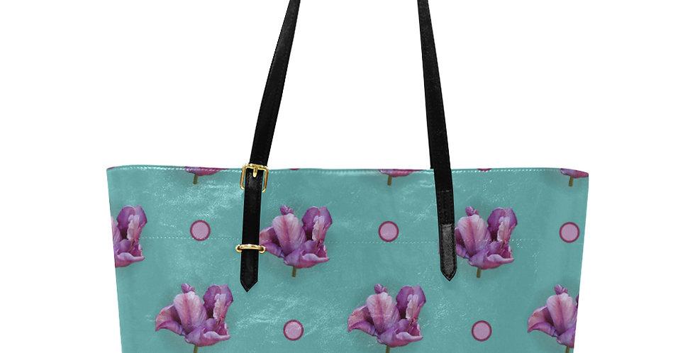Blue Parrot Tulip - Large Tote Bag