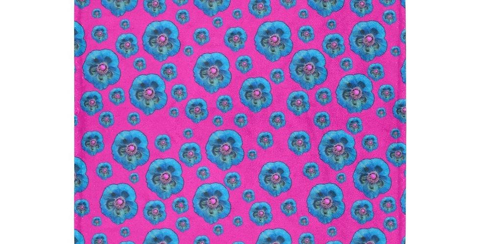 Flower Power Pink/Blue - Blanket