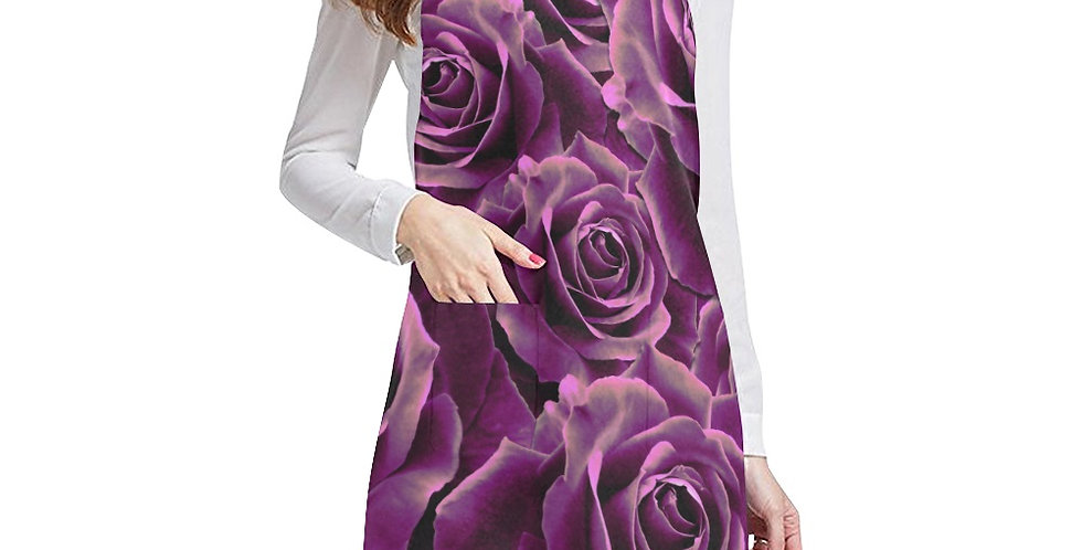 Velvet Roses Pink Apron - Adjustable