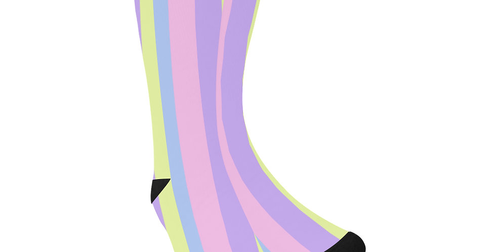 Pastel Stripes - Unisex Socks (Made in Australia)