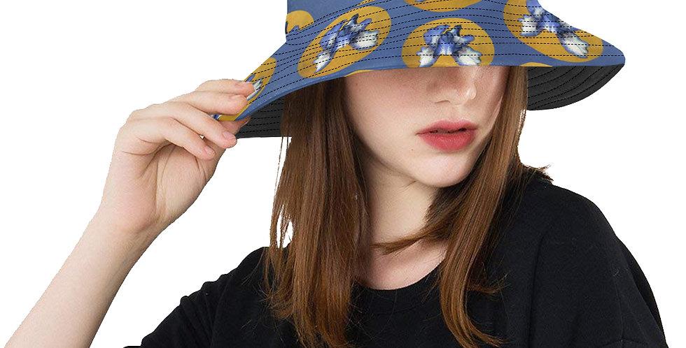 Rainbow Iris Yellow Dots - Bucket Hat