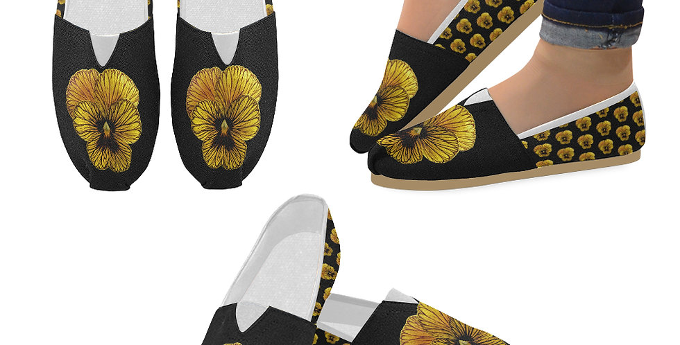 Pansy Tiger - Slip On Canvas Shoes