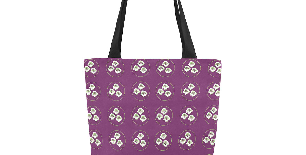 Purple Nasturtium (small print) - Tote Bag