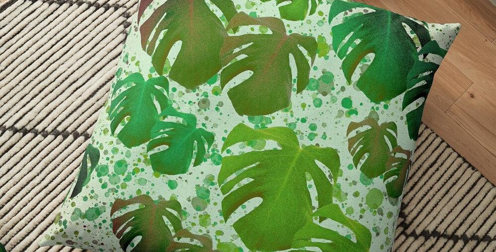 Monstera Leaves Jungle - Cushion Cover