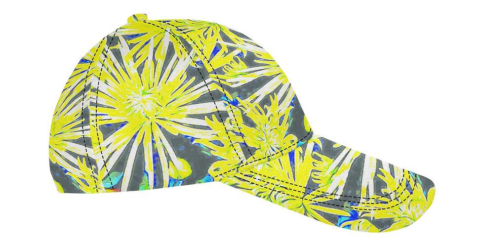 Yellow Chrysanthemums - Baseball Cap