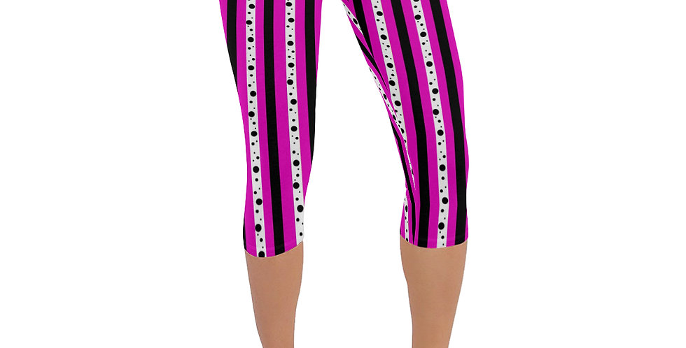 Sweet Pea Passion Stripes - Leggings 3/4