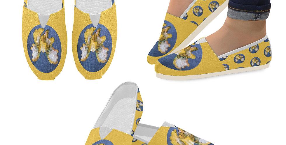 Rainbow Iris Yellow/Blue - Slip On Canvas Shoes