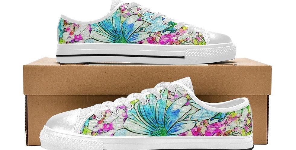 Dancing Daisies - Women's Canvas Sneakers