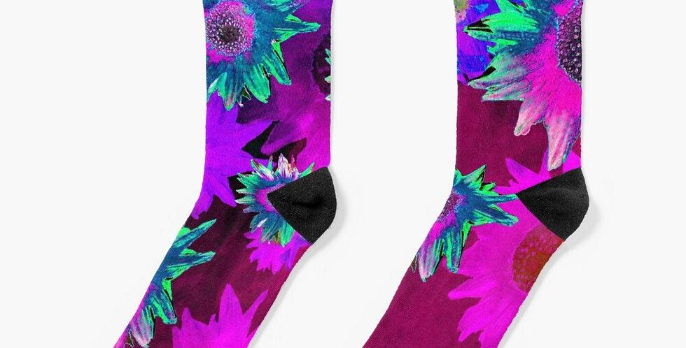 Strawflower Sizzle Purple/Pink - Socks