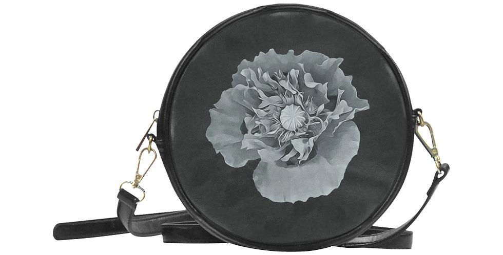 Botanical Poppy - Round Messenger Bag
