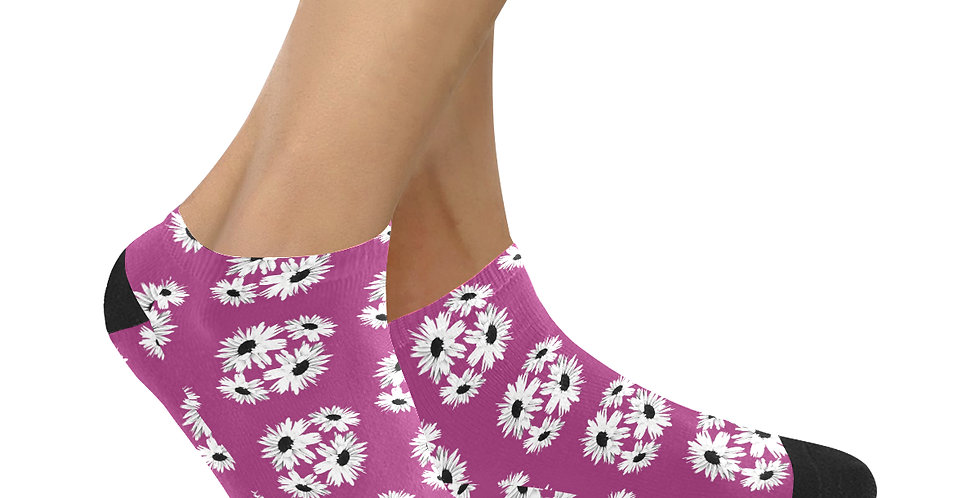 Bunch of Daisies - Hot Pink - Ankle Socks