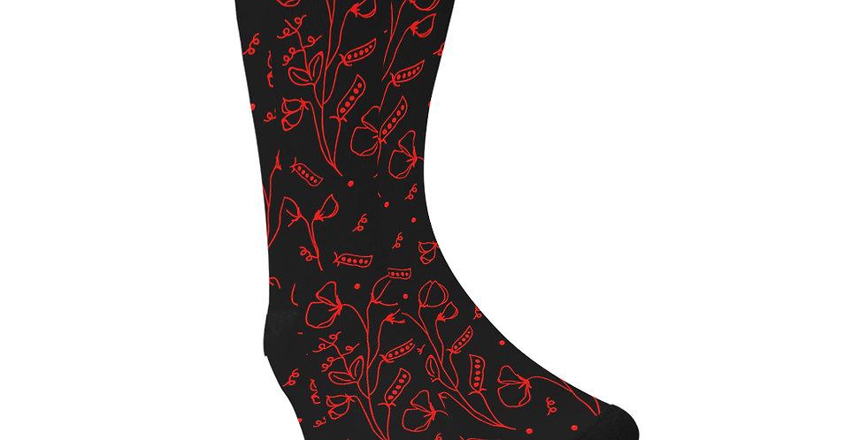 #sweetpea lust Black/Red - Unisex Socks (Made in Australia)