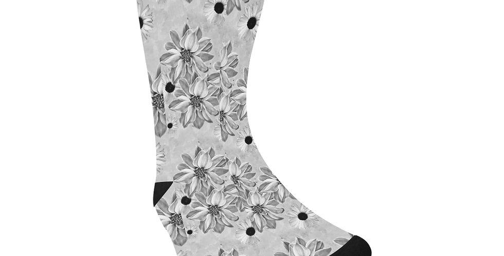 Floral Grey - Unisex Socks (Made in Australia)