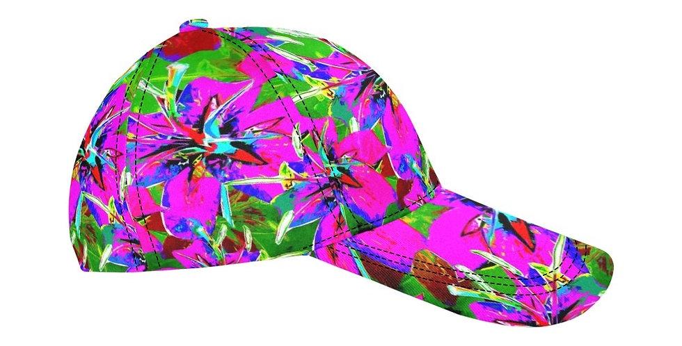 Luscious Liliums - Pink / Green - Baseball Cap