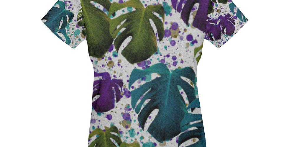 Monstera Teal / Purple / Green - T-Shirt