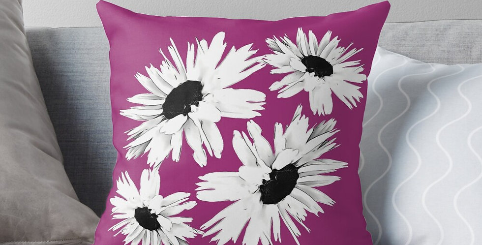 Bunch of Daisies Pink - Cushion Cover