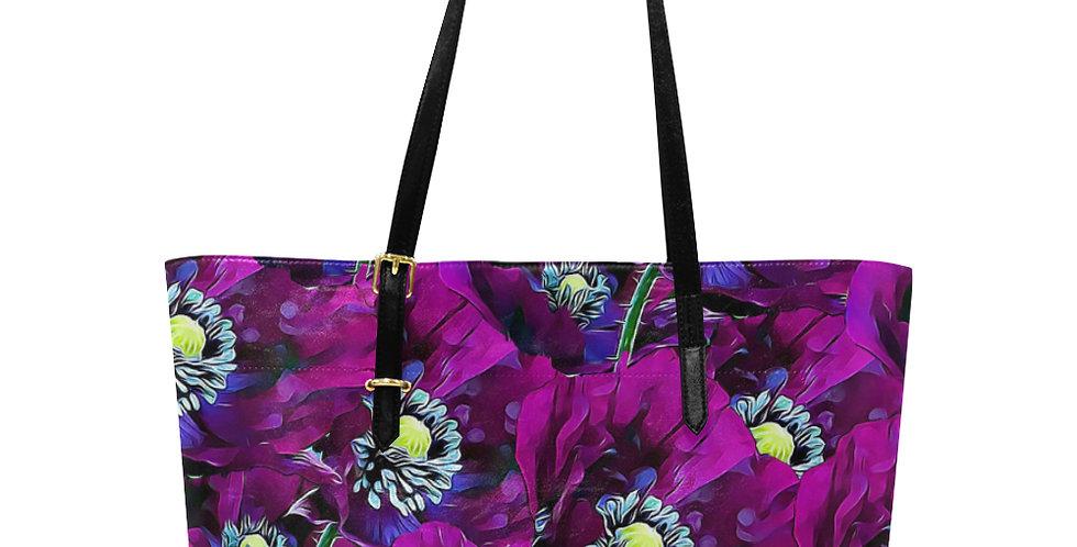 Wild Purple Poppies - Large Tote Bag
