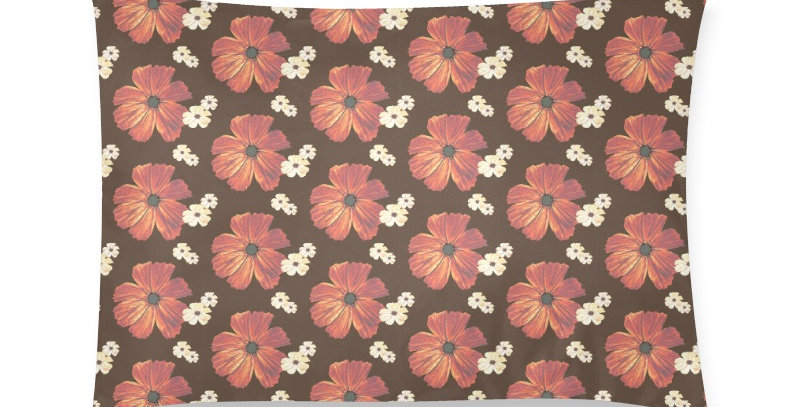 Chocolate Cosmos - Cushion Cover