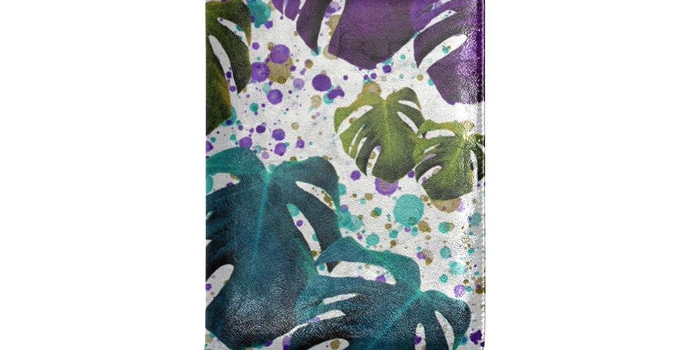 Monstera Leaves Teal/Purple - Journal