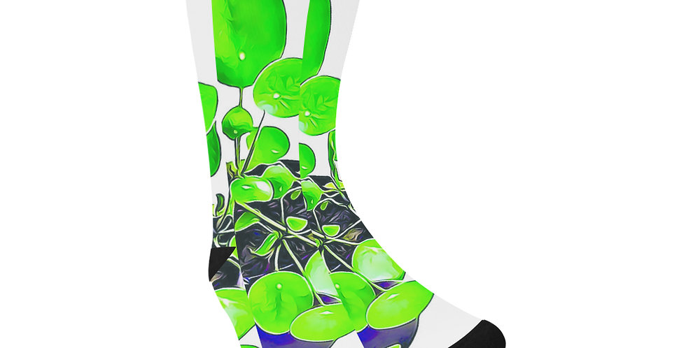 Chinese Money Plant - Unisex Socks (Made in Australia)