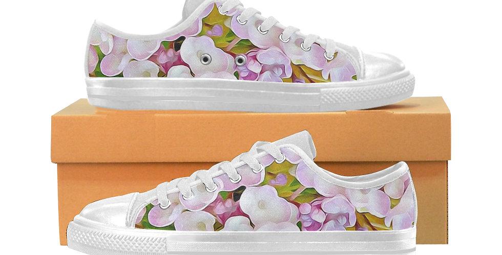 Hydrangea Confetti - Women's Canvas Sneakers