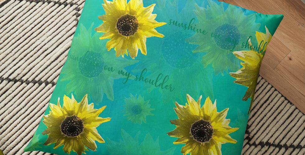 Sunflower - Sunshine On My Shoulder Inspiration - Cushion Cover