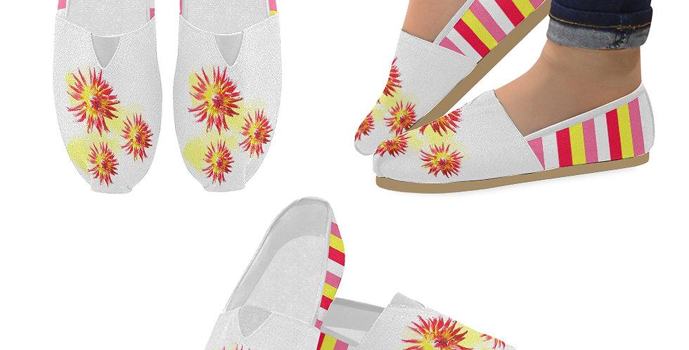 Dahlia Fireworks - Slip On Canvas Shoes