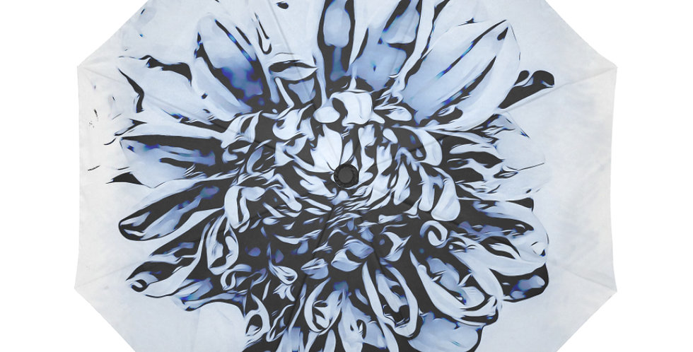 Blue Dahlia - Botanical Umbrella