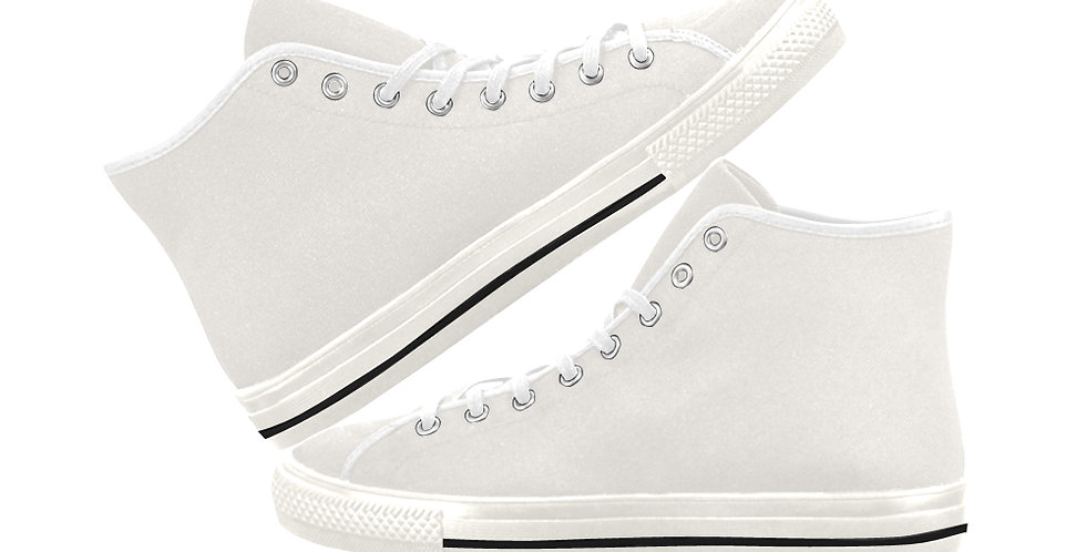 Soft Cream - Women's High Top Canvas Sneakers