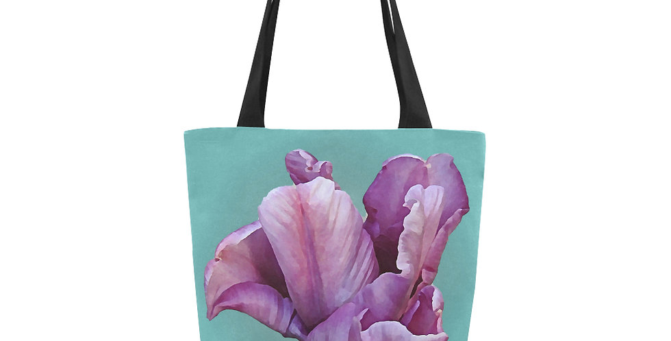 Blue Parrot Tulip - Tote Bag