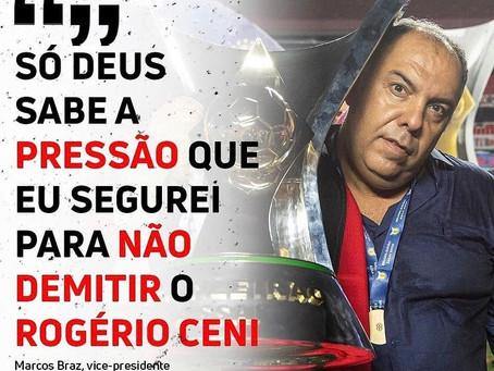 Marcos Braz admitiu ter recebido pedidos para que mandasse o técnico embora