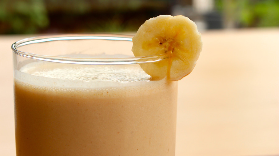 Peanut Butter and Banana Protein Smoothie