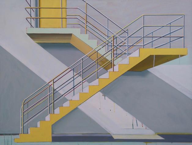 'Yellow Stairway' 125x100cm