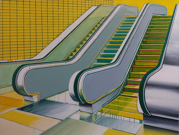 'Glasgow Subway' 125x100cm