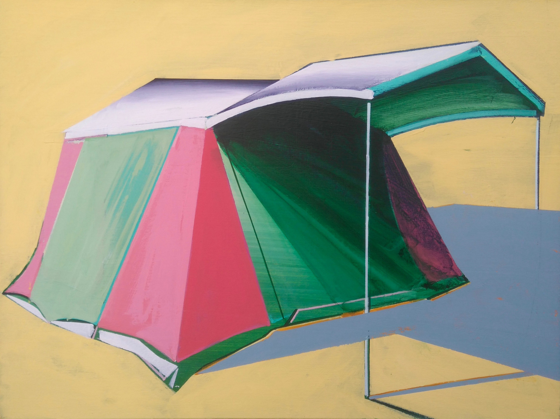 Green and Pink Tent 60x45cm
