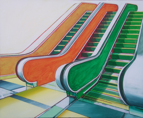 'Escalator' 100x80cm